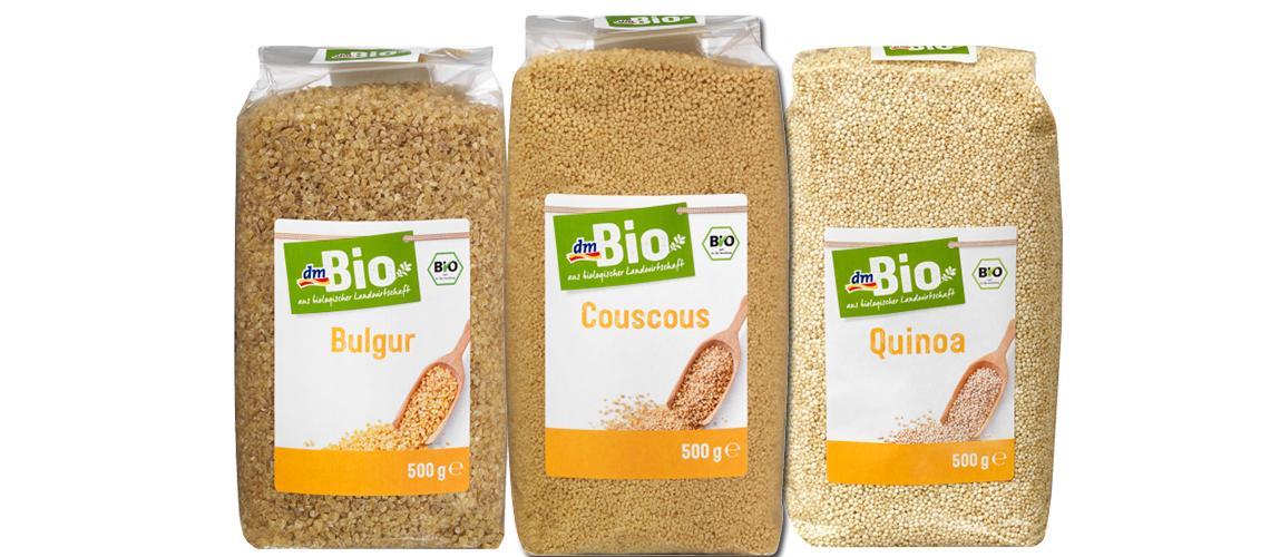 dm Bio_Collage_Bulgur_Couscous_Quinoa
