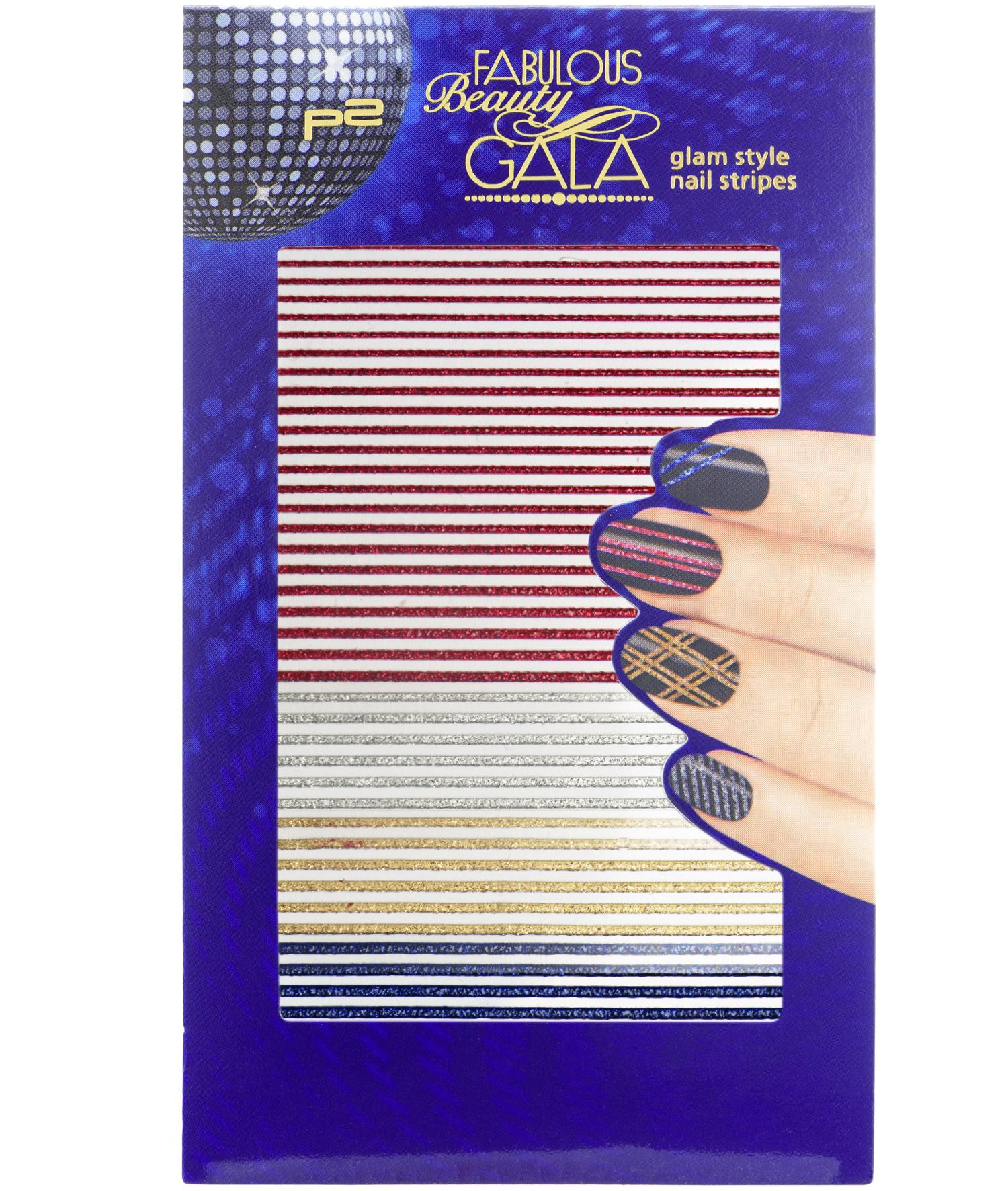 glam style nail stripes